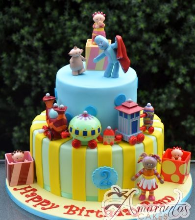 Two tier cake With In the Night Garden Figures – AC283