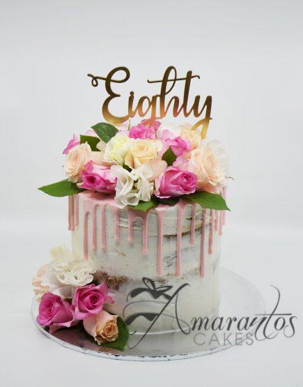 Semi Naked Birthday Cake Amarantos Cakes Melbourne