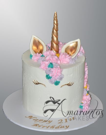 Unicorn Themed Cake - Amarantos Cakes - AC288