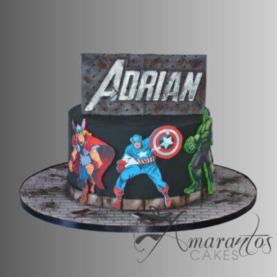 AC295 superhero marvel WM Amarantos Cakes