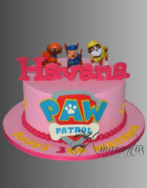 AC304A paw patrol WM Amarantos Cakes