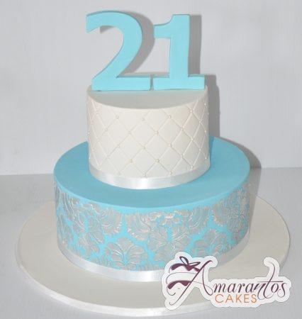 Two tier designed Cake – AC305
