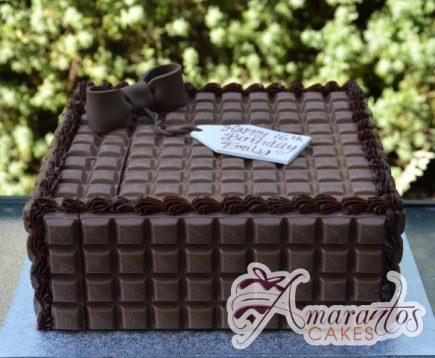 Chocolate Block Cake - Amarantos Designer Cakes Melbourne
