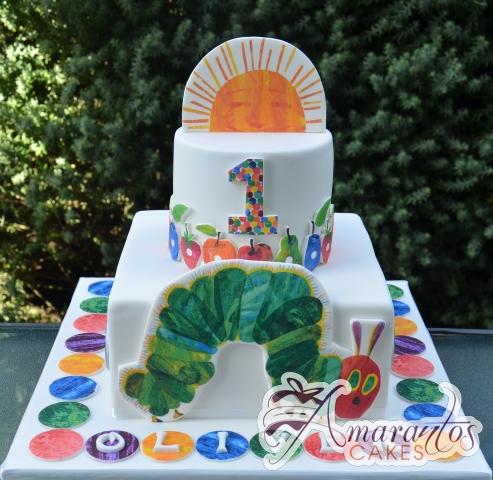 Two Tier Hungry Caterpillar Cake - Amarantos Designer Cakes Melbourne