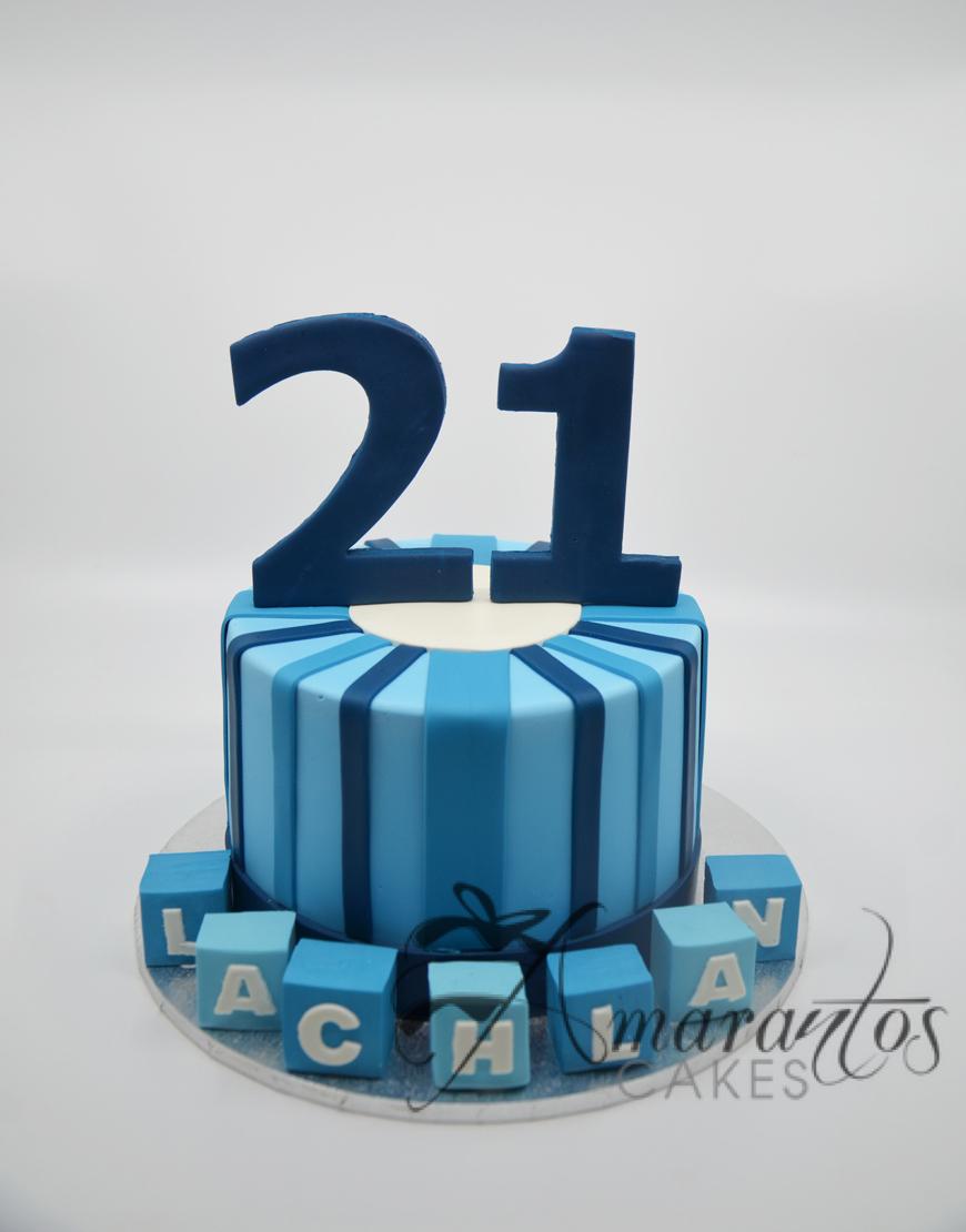 Round With Number Cake - Amarantos Designer Cakes Melbourne