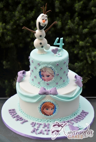 Two tier Frozen Cake - AC316 - 1st Birthday Amarantos Cakes