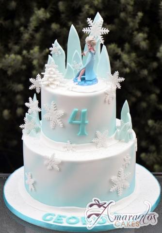 Two Tier Frozen Cake - Amarantos Designer Cakes Melbourne