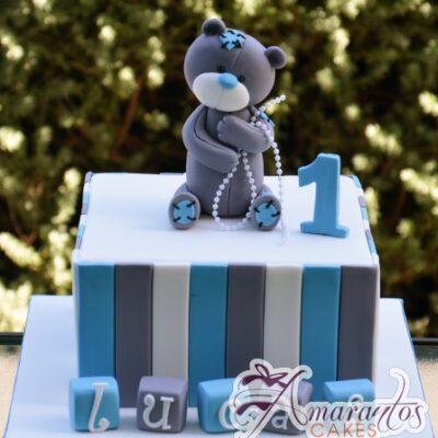Base cake with Teddy - Celebration Cakes Melbourne - Amarantos