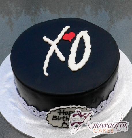 XO cake – Celebration Cakes Melbourne – Amarantos Cakes