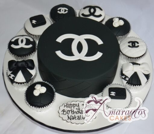 Chanel cake and cup cakes- Amarantos Cakes Melbourne
