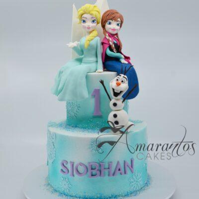 Two tier Frozen Cake - AC347 - Amarantos Celebration Cakes Melbourne