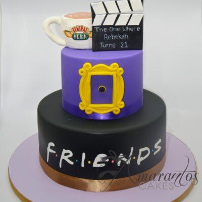 Friends 2 Tier Cake - AC349 - Amarantos Cakes