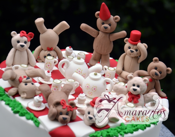 Teddy Bear Tea Party Cake - Amarantos Birthday Cakes Melbourne