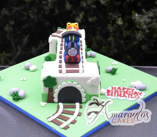 Number One Thomas Cake - Amarantos Custom Made Cakes Melbourne