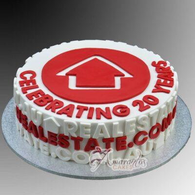 Corporate Logo Cake