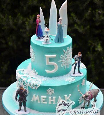 Frozen Themed Cake - Amarantos Custom Made Cakes Melbourne