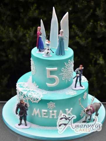 Frozen Themed Cake - Amarantos Custom Made Cakes Melbourne