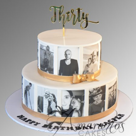 Two tier Photo Cake – AC380