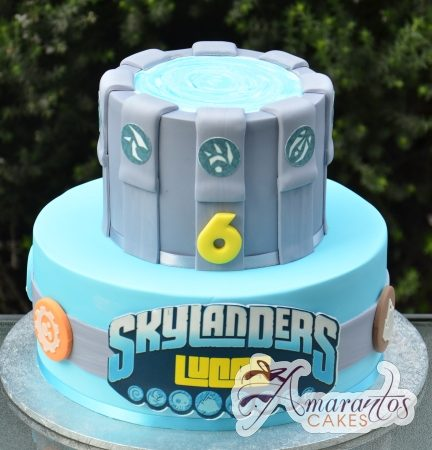 Two tier Skylander Cake – AC387