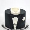AC39 black tie tuxedo WM Amarantos Cakes