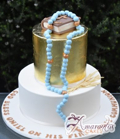 Two tier Communion Cake – AC393