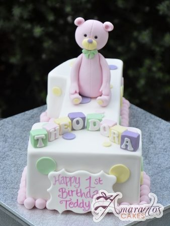 Number cake with Teddy – AC395