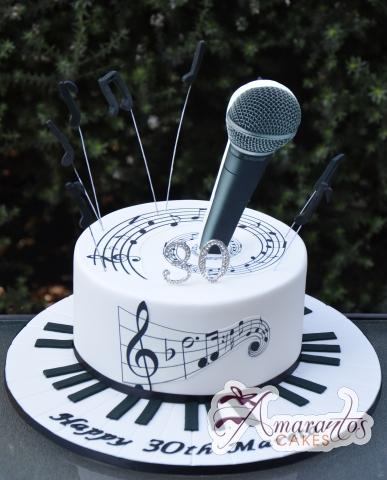Base Cake Microphone - Amarantos Custom Made Cakes Melbourne