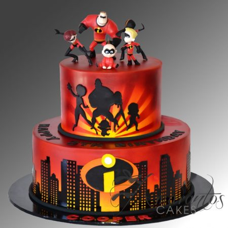 Two Tier Incredibles Cake – AC403