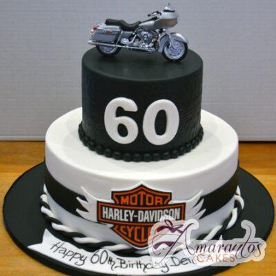 Two Tier Motorbike Cake - Amarantos Designer Cakes Melbourne