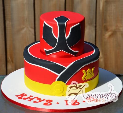 Two Tier Power Rangers Cake - Amarantos Designer Cakes Melbourne