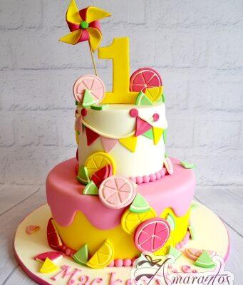 Two Tier Lemonade Cake - Amarantos Designer Cakes Melbourne
