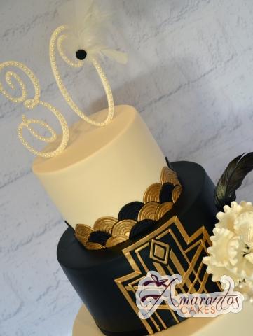 Three Tier Gatsby Cake - Amarantos Designer Cakes Melbourne