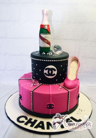 Chanel Designer Two Tier Cake - Amarantos Cakes Melbourne