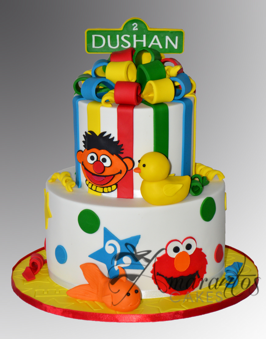 Two tier sesame street cake AC451