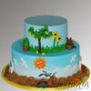 Garden/Sea themed cake AC469