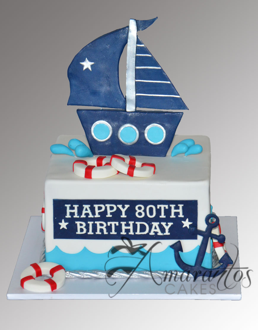 Square Sail Boat Cake AC475