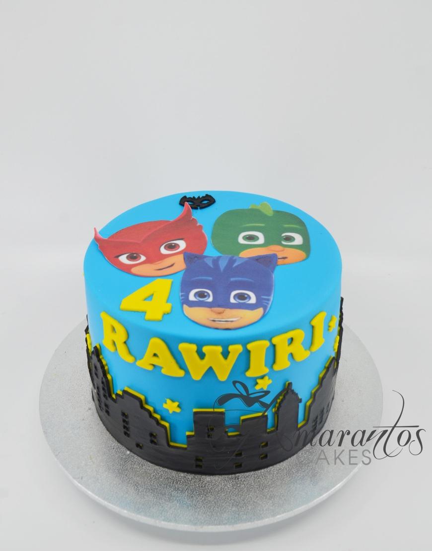 PJ Masks Cake - AC484 - Amarantos Cakes