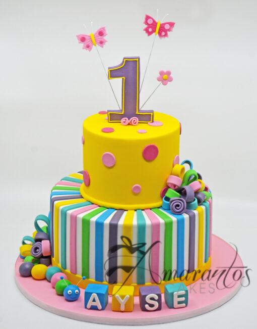 AC50 1st birthday caterpillar WM Amarantos Cakes