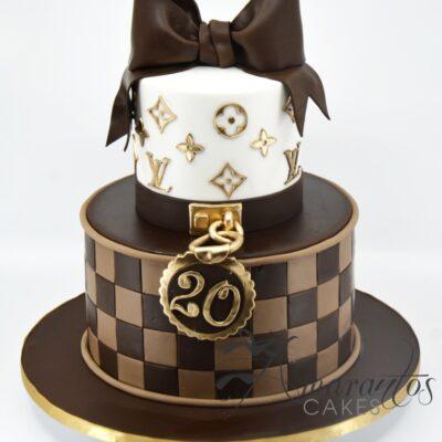 Two tier Louis Vuitton Cake - AC519