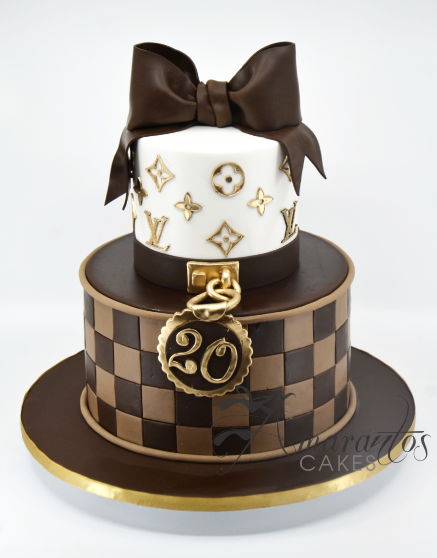 Two tier Louis Vuitton Cake - AC519
