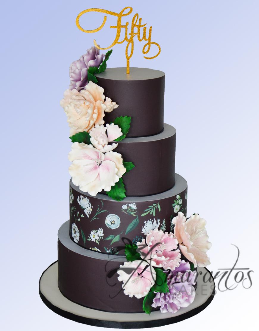 AC522 Four tier Floral Design Cake
