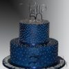 AC524 Two tier 50th Birthday cake