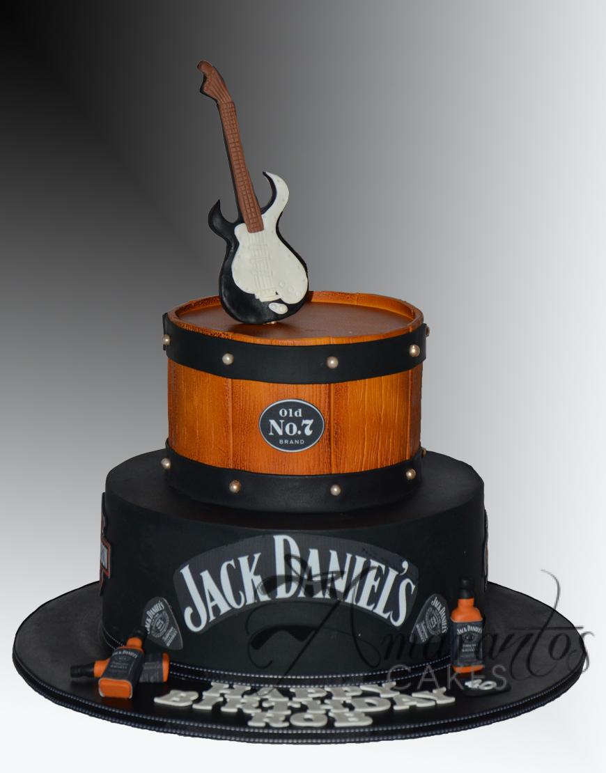 Two tier Jack Daniels Cake - AC525