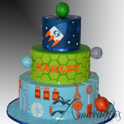 AC527 Three tier Miles from Tomorrowland Cake