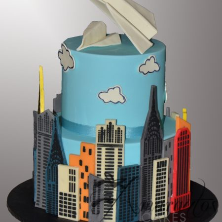 Two tier Paper Plane Cake – AC533