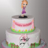 AC536 Tangled Cake - Amarantos Cakes