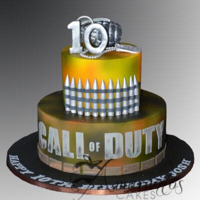 Call Of Duty Cake - AC54 - Amarantos Cakes