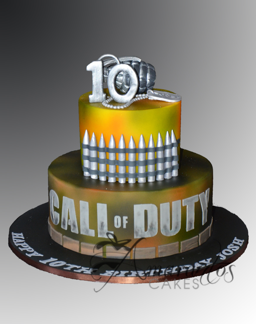 Call Of Duty Cake - AC54 - Amarantos Cakes
