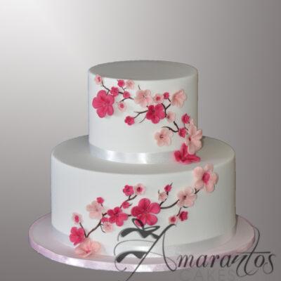 AC543 Two tier cherry blossom Cake