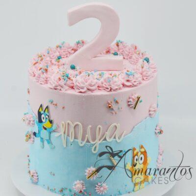 Bingo and Bluey Cakes - AC56 - Amarantos Cakes Melbourne